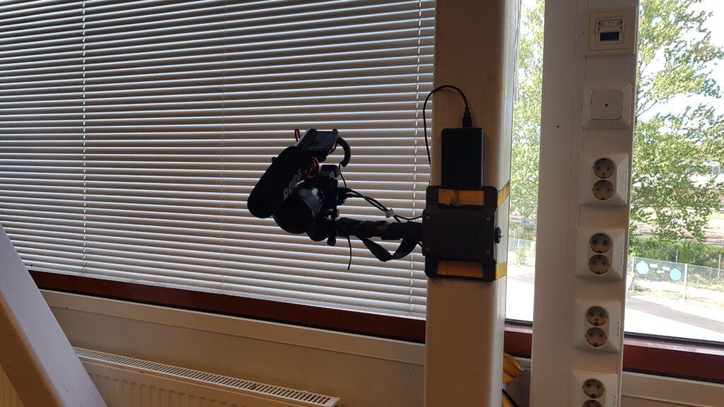 Kameran kiinnitys tolppaan